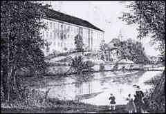 Ansicht Schloss und Christuskirche um 1850 vermutlich von Carl Christiona Radefeld (1788 - 1874)