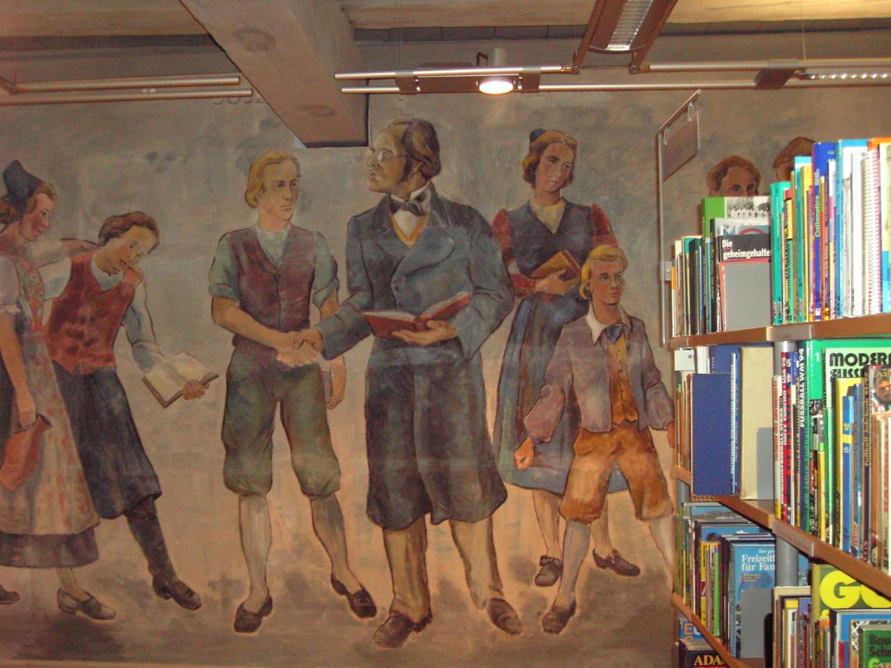 Wandgemälde im Erwachsenenbereich